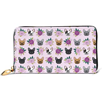 French Bulldog Design Sweet Dogs Wallets For Men Women Long Leather Checkbook Card Holder Purse Zipper Buckle Elegant Clutch Ladies Coin Purse
