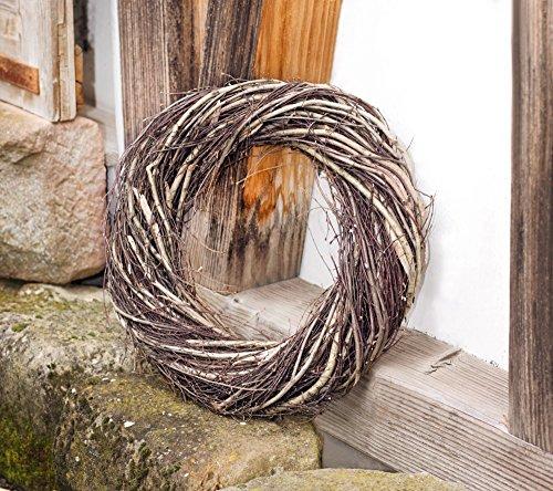 großer Deko-Kranz aus Reisig, Ø 45 cm, braun, Reisigkranz, Naturkranz, Türkranz, Wandkranz