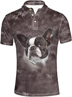 Panda T-Shirt Breathable Short Sleeves Poloshirt for Men