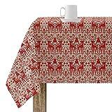 BELUM   Mantel Navidad   Mantel Antimanchas Mesa Rectangular Resinado   Mantel resinado (Tacto plastificado)   Mantel Mesa   Mantel Mesa hogar (200X140 cm)