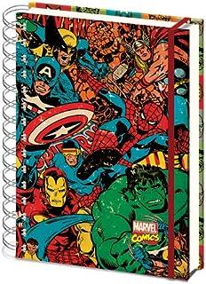 Marvel Bloc de notas A5, con anillas, dise/ño de c/ómic estilo retro