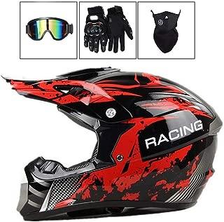 Quad-Helm Enduro-Helm Set mit Visier gold Broken Head made2rebel Cross-Helm gr/ün MX Motocross Helm mit Sonnenblende L