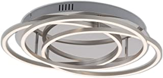 Briloner Leuchten - Lámpara led de techo, lámpara de techo regulable con función de memoria, 60W, 4800 lúmenes, 3000 Kelvin, cromo-aluminio, 546x95mm (diámetroxaltura)