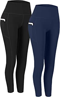2 Pack High Waist Yoga Pants, Pocket Yoga Pants Tummy...