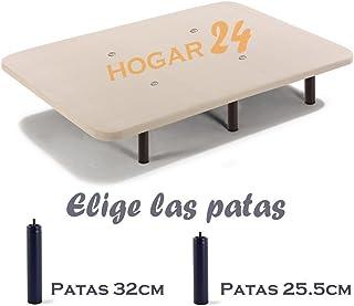 HOGAR24 Base TAPIZADA + 6 Patas DE Metal con Tejido 3D Y VÁLVULAS DE TRANSPIRACIÓN-120x190cm-PATAS 26CM