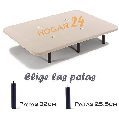 HOGAR24 Base TAPIZADA + 6 Patas DE Metal con Tejido 3D Y VÁLVULAS DE TRANSPIRACIÓN-