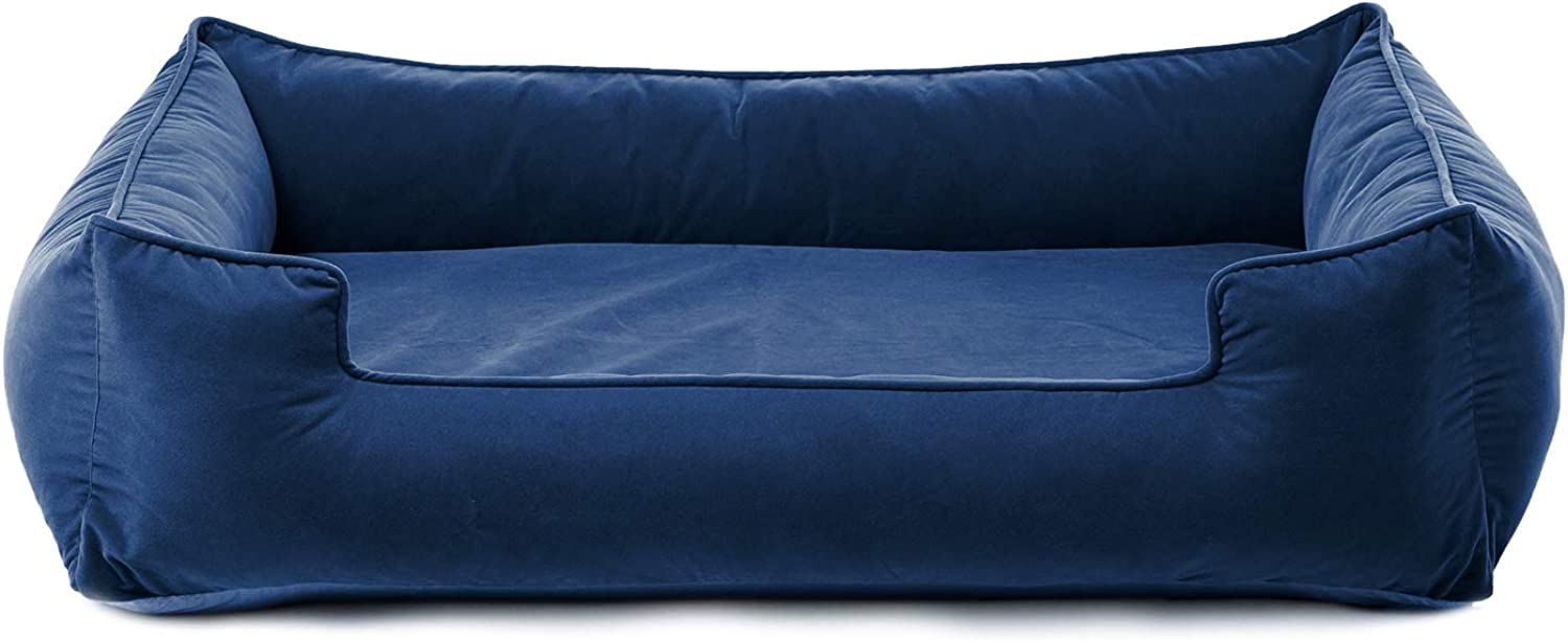 Petsbao Premium Dog Bed with 4  Solid Memory Foam   Waterproof Liner   Washable Removable Cover (Large 39 x 30.5 x 9.8 inch, bluee)