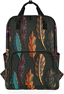 DEZIRO Boho Feather Casual Mochila Bolsa de Hombro