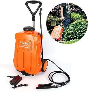SHZICMY 16L Backpack Sprayer Electric Backpack Garden Wheel Sprayer Garden Weed Sprayer Dolly Cart Rechargeable Battery Orange (USA Stock)