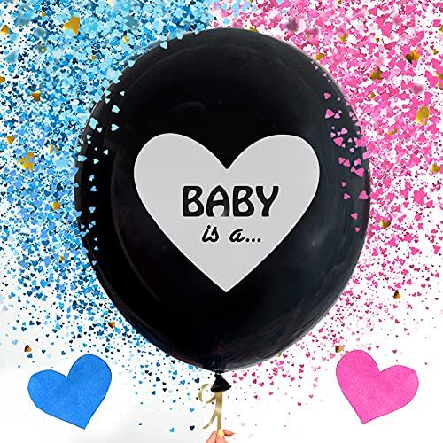 Globos revelables, 2 unidades, diseño de niño o niña, globos para niñas o niños, para fiestas de sexo, decoración para fiestas de bebés