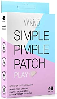 Simple Pimple Patch (Play)- Acne Patch hydrocolloid Acne Spot Treatment - 48 Pimple Patches for Face - Invisible Super Absorbing zit patch