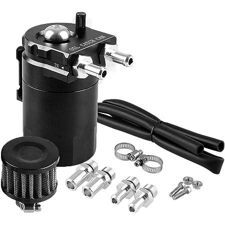 Dingln Oil Catch Can,Car Universal Engine Oil Separator Catch Reservoir Can Oil Filter Baffled