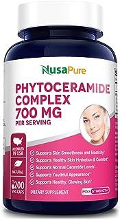 Phytoceramides Complex 700mg 200 Veggie Capsules (Non-GMO) Powerful Skin Repair & Rejuvenation - All Natural Plant Derived...