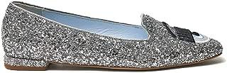 Chiara Ferragni Luxury Fashion Womens CF2625SILVER Silver Flats | Spring Summer 20
