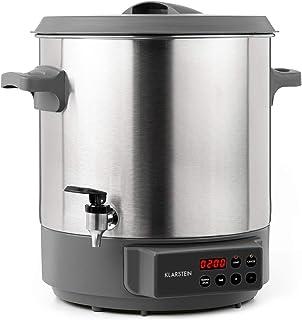 Klarstein Lady Marmalade - Olla para hacer mermeladas, caldera de cocción, termo para bebidas, 27 litros, 1800 W, 30-100 °C, programable, conserva el calor, no quema, acero inoxidable