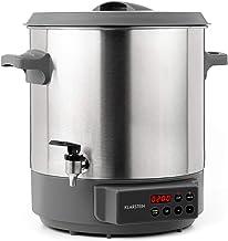 KLARSTEIN Lady Marmalade - Pasteurisateur, Distributeur pour boissons chaudes, 27 L, 1800 Watt, 30-100 °C, Minuterie, Fonc...
