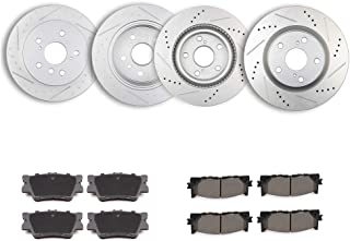 OCPTY Brakes and Rotors Set with 4 Brake Disc Rotots and 8 Ceramic Pads fit for 2013-2015 Lexus ES300h,2007-2012 2014 Lexus ES350,2008-2012 Toyota Avalon,2007-2011 Toyota Camry