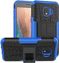 PUSHIMEI Galaxy J2 Case,Galaxy J2 Core/J2 Dash/J2 Pure/J260/J2 Shine case, with Kickstand Hard PC Back Cover Soft TPU Protection Phone Case Cover for Samsung Bench/Galaxy J2 2019(Blue Kickstand case)