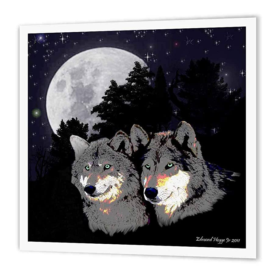 3dRose ht_22831_3 Rocky Mountain Wolves-Iron on Heat Transfer Paper for White Material, 10 by 10-Inch