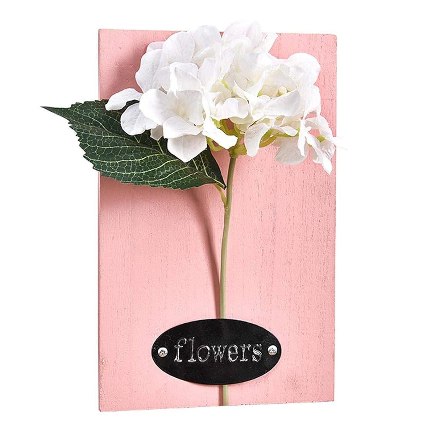 グレー満足させる間違い家の装飾のエミュレーションの花の木板壁掛け、7.08 x 11.02インチ [F]
