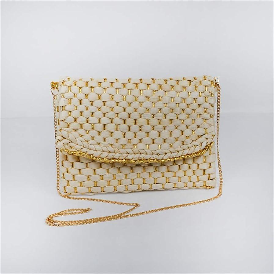 ガウンリーダーシップインシュレータ手編みかご 旅行 水平正方形織女性バッグクロスボディ不織布バッグゴールデンシルバー手織りバッグ (Color : Gold, Size : One size)