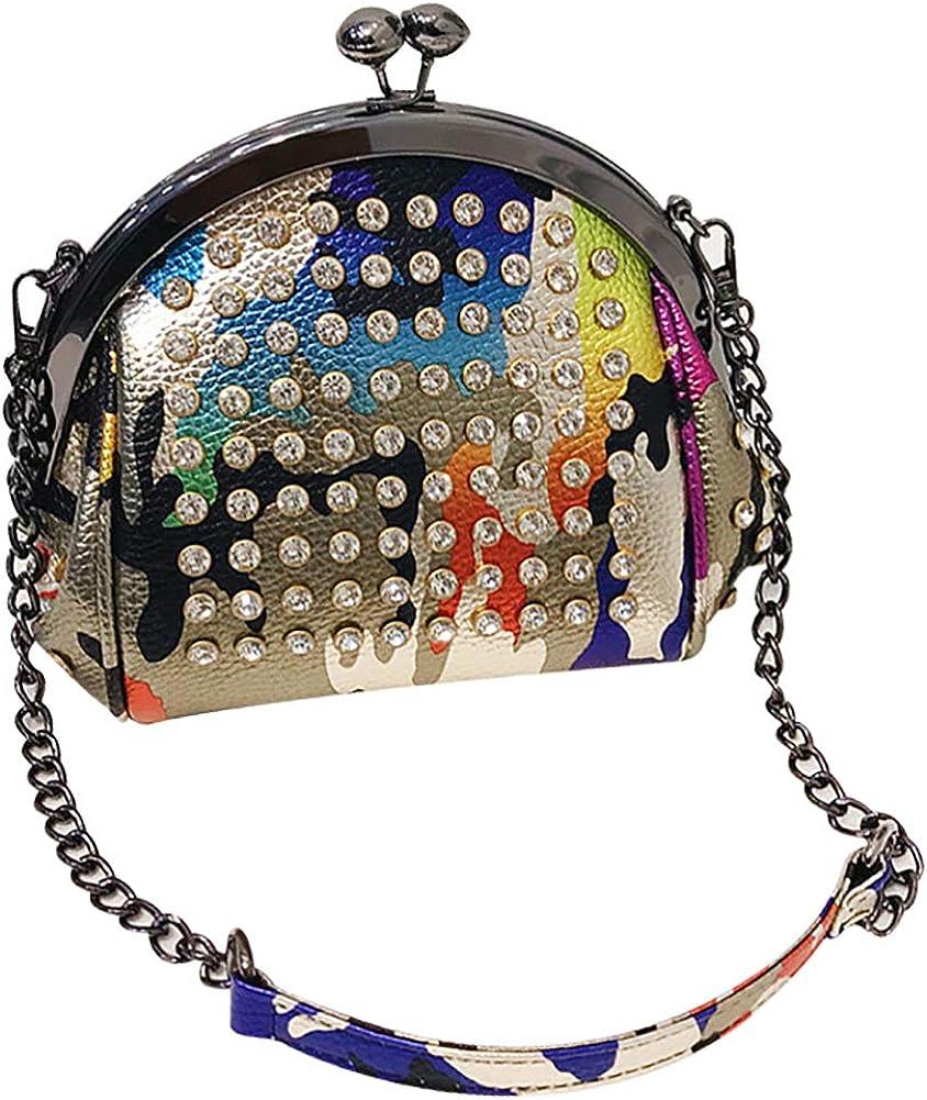 QZUnique Women Glitter Sequin Lock Handle Handbag Philadelphia Mall Top Pu Ranking TOP9 Evening