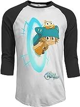 MEGAN GOUGH Men's Wakfu 3/4 Sleeve Raglan Baseball T Shirt Black
