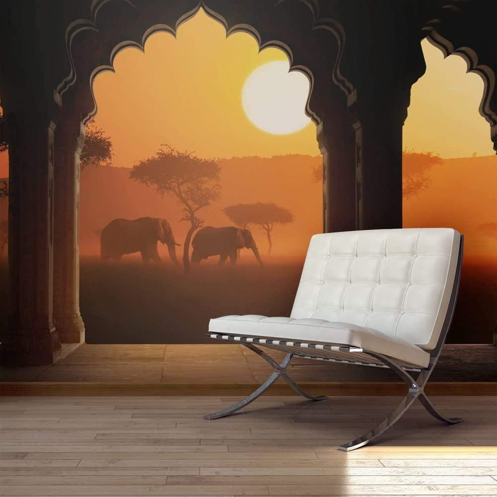 Mural 3D Photo Indianapolis Mall Elephant-250x175CM Animal Regular dealer