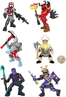 Fortnite Battle Royale Collection: Best of Solo -Skull Trooper (Purple), Magnus, Musha, Wingman, A.I.M. & Cloaked Shadow - 6 Packs of Action Figures