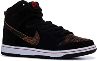 Mens Dunk High Pro SB Distressed Leather Black/University Red Leather Size 10
