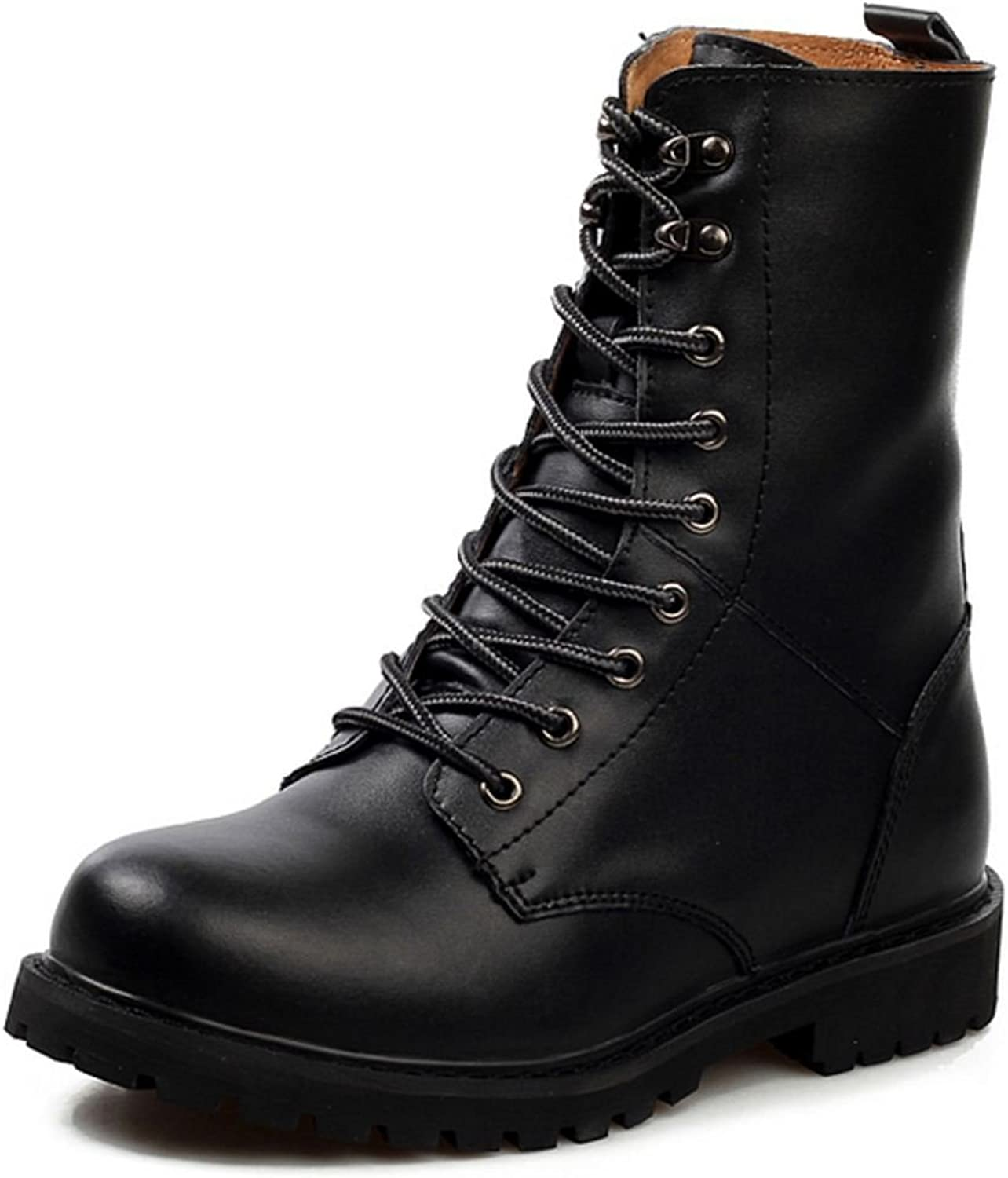 KemeKiss Men Fashion shoes Combat Martin Boots High Top