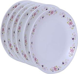 Corelle Livingware Floral Fantasy Dinner Plate, 26.2cm, 6 Pieces, White