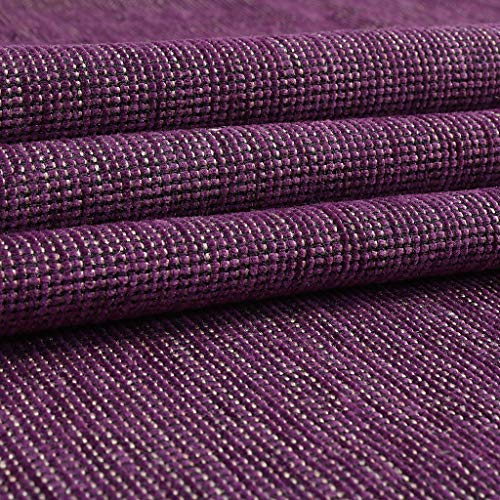 SAE Fabrics Sofas/Curtains Furnishing Chenille Fabric - 140 cms Width - Soft & Rich Cloth - 1 Meter Multiple - Color: Violet