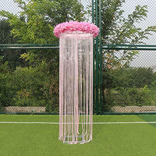 Bureze aangepaste bruiloft plafond tillen ring+lijn gordijn+bloem bruiloft weg lood fase Decor verstelbare ring plank plafond slinger