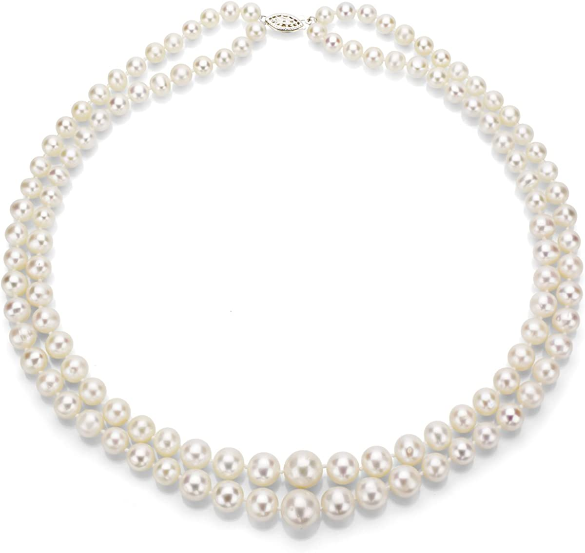 Sterling Silver Graduated 6-11mm Pearl New Outlet sale feature mail order Freshwater White Cultured