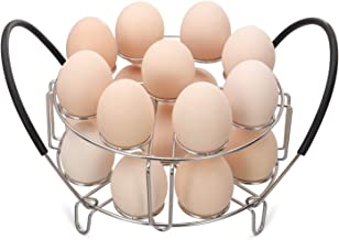 Aozita Multipurpose Stackable Egg Steamer Rack Trivet with Heat Resistant Silicone Handles Compatible for Instant Pot Acce...