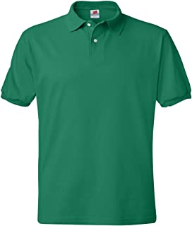 Hanes Men's ComfortBlend EcoSmart Jersey Polo,Kelly Green, 2XL
