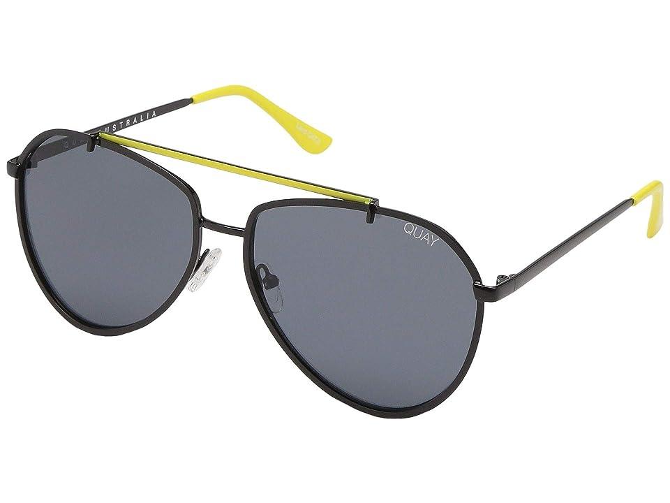 QUAY AUSTRALIA Dirty Habit (Black/Smoke) Fashion Sunglasses
