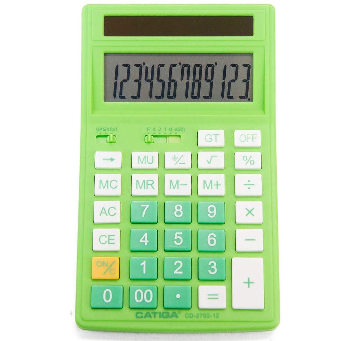 コントロール顕著抑制CATIGA CD-2702-12 標準機能計算機 - 家庭やビジネスに最適 - 12桁のハンドヘルド/デスク電卓