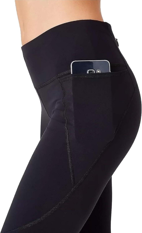 BELONGSCI High Waist Workout Leggings Yoga Pants for Women with Pockets Tummy Control Butt Lift Back Zipper Pocket