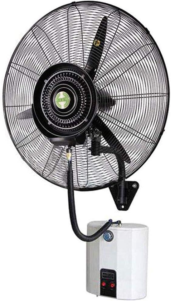 yanzz Ventilador de Alta Resistencia Potentes Ventiladores de bocina montados en la Pared, Ventilador de nebulización eléctrico oscilante, humidificador silencioso de enfriamiento por atomización