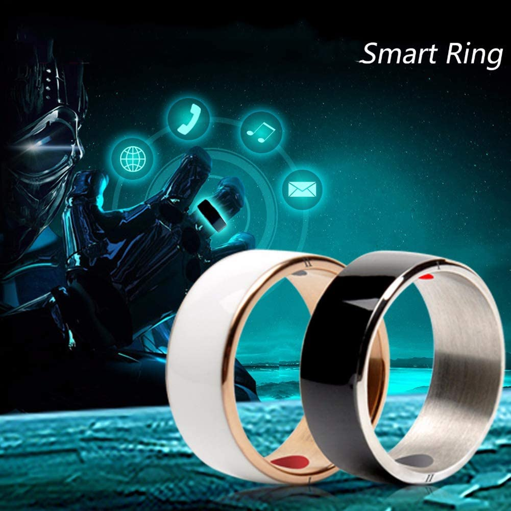 ZJH NFC Smart Ring, Wearable Magic Finger Rings 7-12 Size Smart Phone Accessories Suitable for NFC Mobile Phone