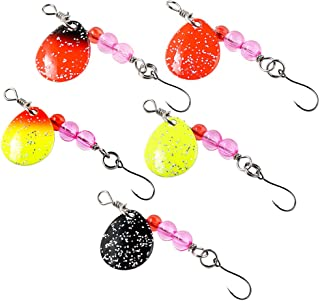 SUNMILE Fishing Buzzbait Spinnerbait Lures Double Willow Blade Spinner Baits for Bass Pike Metal Fishing Lure