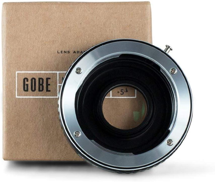 Gobe - Adaptador de Lente Compatible para Lentes Contax/Yashica (C/Y) y cuerpos de cámara Nikon F con Vidrio óptico