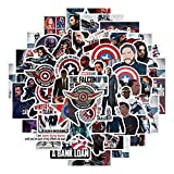Cool Movie Stickers for Teen Adult Water Bottle, Trendy Laptop, Phone, Skateboard, Travel Case, Computer, Guitar, Bike (The Falcon and The Winter Soldier)
