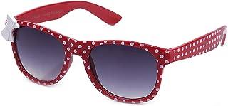 Girls Plastic Polka Dot Bow Sunglasses Lead Free