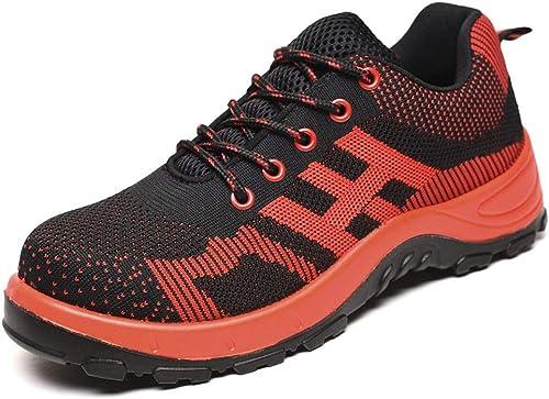 JESSIEKERVIN YY3 Chaussures de de Sport en Plein air, Chaussures de randonnée, Chaussures de sécurité, Chaussures de sécurité, Haute température, Anti-écraseHommest (Couleur   rouge, Taille   41)  100% garantie de prix