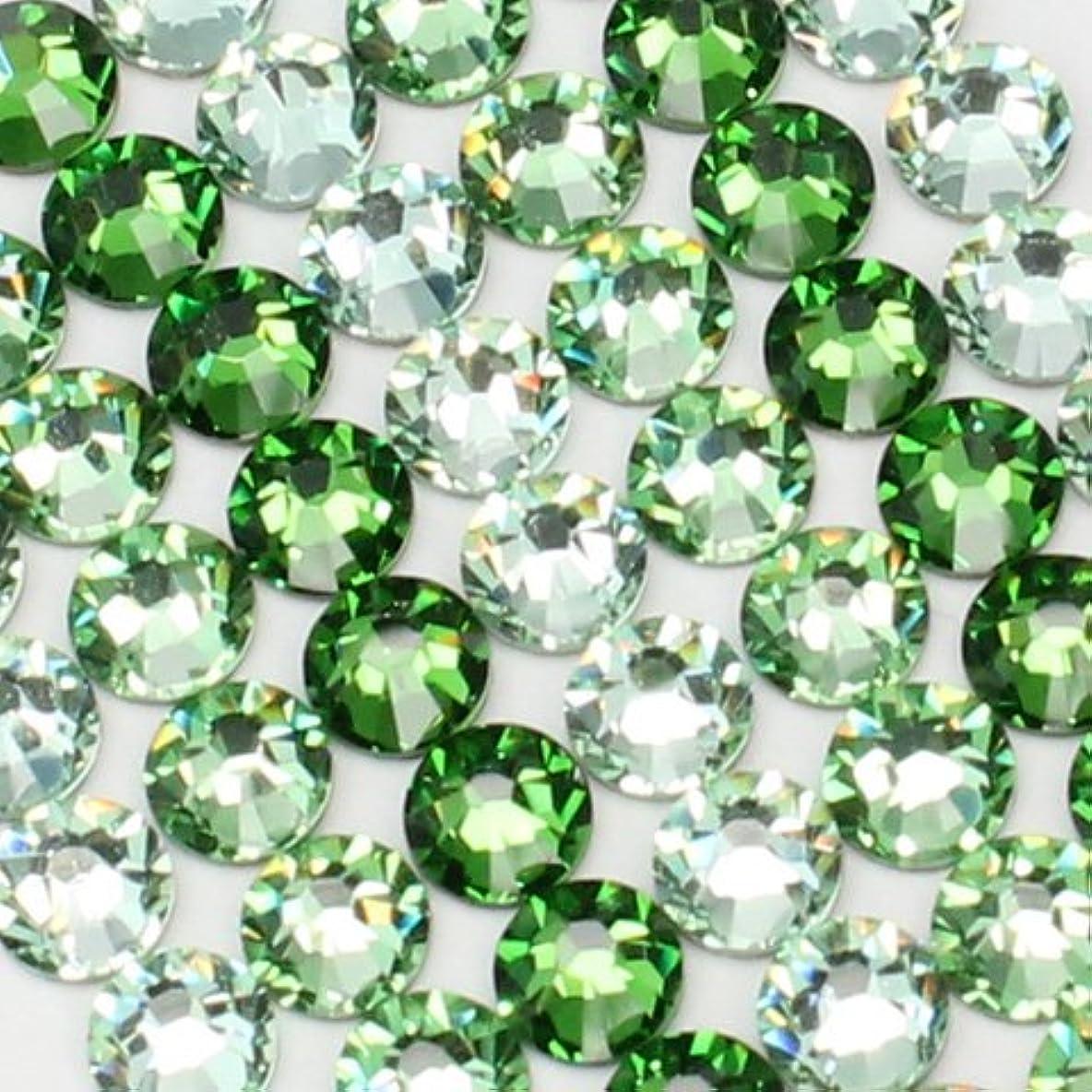 畝間立派な応用お試しアートMIX[グリーン]クリソライト、ペリドット、ファーングリーン/スワロフスキー(Swarovski)/ラインストーン ss16(各20粒)