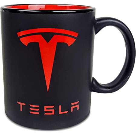 Friends Te-sla Red Logo Classic Mug Coffee Tea Mug Funny 11 Oz Gift Idea For Coworkers