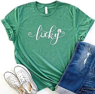 HRIUYI Womens Lucky Shamrock St. Patrick Day Shirt Funny Baseball Tee Tops